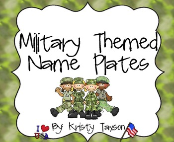 Military Themed Name Plates