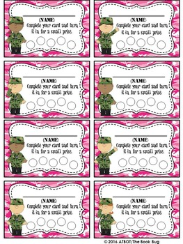 Military Themed Punch Card Pack