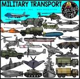 Military Transport Clip Art Set