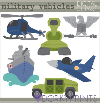 Military Vehicles Digital Clipart