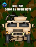 Military/Veteran's Day Color By Music Note Rhythm Coloring