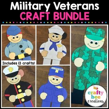 Military Veterans Cut and Paste Set (Veteran's Day)