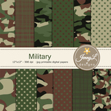 Military camouflage digital paper