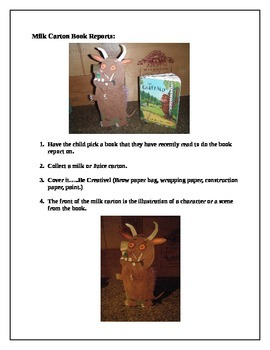 Milk Carton Book Report