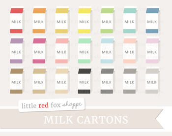Milk Carton Clipart; Lunch, School