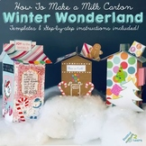 Milk Carton Winter Wonderland/Gingerbread Houses! (Winter Parties)