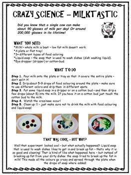 Milk Color Explosion - Science Experiment: It's Milk-Tastic!