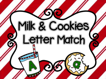 Milk & Cookie Letter Match