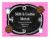 Milk & Cookie Sight Word Match (Journeys First Grade Units 1-3)