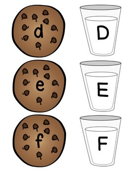 Milk & Cookies Letter Match-Up