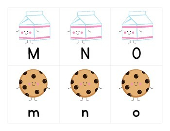 Milk & Cookies Uppercase and Lowercase Letter Match