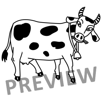 Milk Cows Clipart Set Cu And Non Cu By Ratselmeister