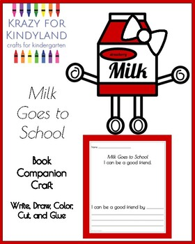 Milk Goes to School Book Companion Craft for Kindergarten (Back to School)