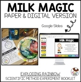 Milk Magic Color Explosion Experiment with the Scientific Method