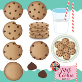 Milk and Cookie Time Clip Art / Food Clip Art