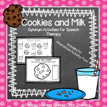 Milk and Cookies- Synonym Activities for Speech Therapy