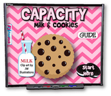 Milk and Cookies Capacity SMART BOARD PROMETHEAN Game