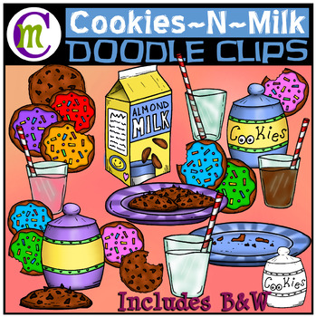 Milk and Cookies Clipart