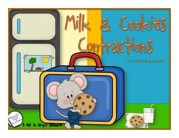 Milk and Cookies Contractions (a matching game)