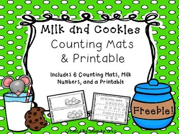 Milk and Cookies Counting Mats and Printable- Freebie!