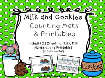 Milk and Cookies Counting Mats and Printables