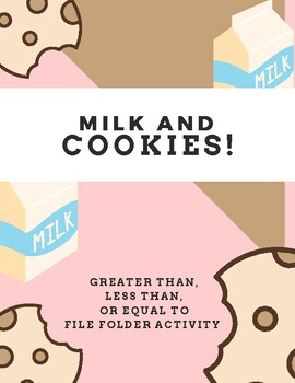 Milk and Cookies File Folder Activity