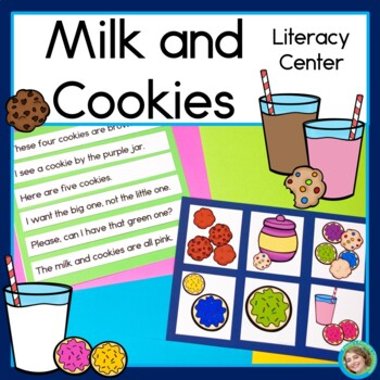 Milk and Cookies Sentence Picture Match Reading Center