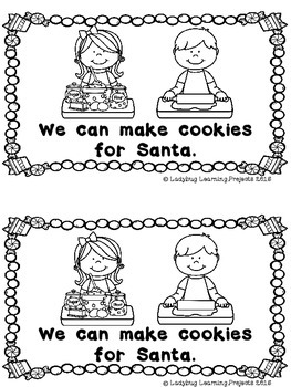 Milk and Cookies for Santa (A Sight Word Emergent Reader)