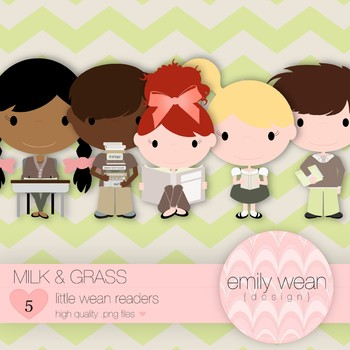 Milk and Grass - Little Readers Clip Art