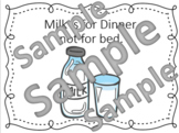 Milk is Not for Bed Social Story