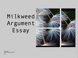 Milkweed Argument Essay Prompt PowerPoint