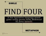 """Milkweed - """"Find Four"""" Simile and Metaphor Game - Hands on Learning!"""