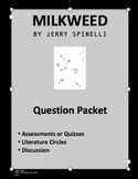 Milkweed Packet of 55 Common Core Based Questions and Answers
