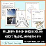 Millennium Bridge - London England - History, Facts, Color