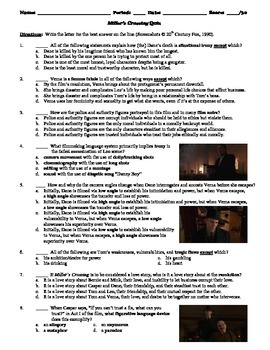 Miller's Crossing Film (1990) 15-Question Multiple Choice Quiz