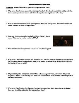 Miller's Crossing Film (1990) Study Guide Movie Packet