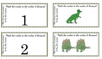 Miller's Dinosaur Concentration (whole number to picture match)