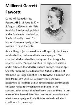 Millicent Garrett Fawcett Handout