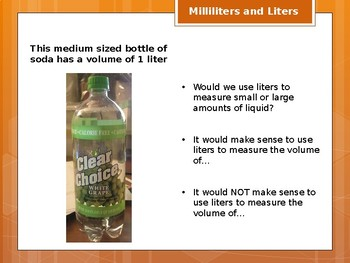 Milliliters and Liters Powerpoint