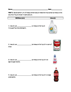 Milliliters And Liters Worksheets & Teaching Resources | TpT