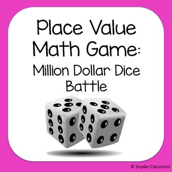 Place Value with Larger Numbers Math Game