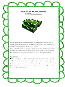 Million Dollar Math Project