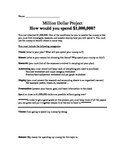 Million Dollar Project (Graphing, decimals, fractions, accounting and percents)