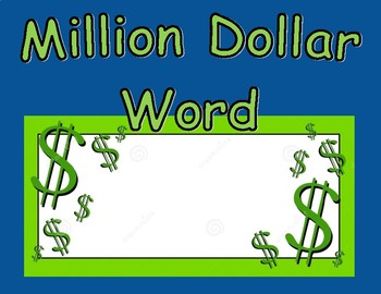 Million Dollar Word Poster
