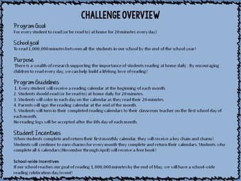 Million Minute Reading Challenge: Reading Incentive Program
