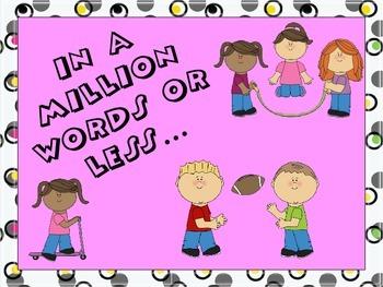 Million Words- Beginning of the Year Parent Homework Assignment
