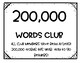 Million Words Club Reading Goals Pack