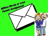 Million Words or Less - Parent Homework Assignment