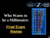 Millionaire: 9th English Final Exam CUMULATIVE Review