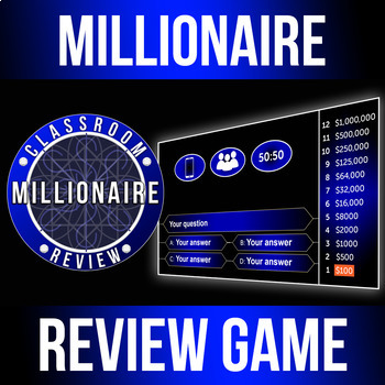 Millionaire Gameshow Classroom Review Game - Customizable Powerpoint (HD)